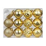Набор ёлочных шаров INGE'S Christmas Decor 81195G001 d 6 см, золото (12 шт)