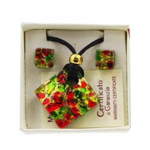 Комплект кулон и серьги в подарочной коробочке АА1059
