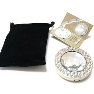 Держатель-крючок для сумок Glamour Гламур (серебристый), Любая женщина придет в восторг от такого подарка!