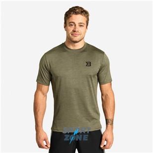 Футболка Better Bodies Essex Stripe Tee, зеленый меланж