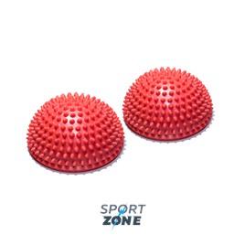 Полусфера массажно-балансировочная (набор 2 шт) красный