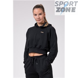 NE Golden Cropped hoodie цв.чёрный