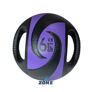 Мяч тренировочный (медицинбол) с хватами, 6 кг