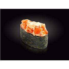 Гункан сыр креметта и лосось