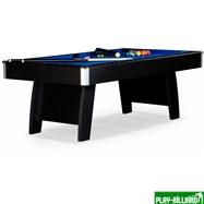 Weekend Бильярдный стол для пула «Riga» 7 ф (черный) ЛДСП в комплекте аксессуары, интернет-магазин товаров для бильярда Play-billiard.ru