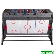 Weekend Стол-трансформер «Vortex 3-in-1» (3 игры: аэрохоккей, футбол, бильярд, 127 х 78.7 х 86.4 см, серый), интернет-магазин товаров для бильярда Play-billiard.ru. Фото 9