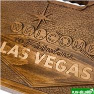 Кейс для покера деревянный резной Las Vegas на 500 фишек, интернет-магазин товаров для бильярда Play-billiard.ru. Фото 3