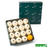 Aramith Saluc Комплект шаров 68 мм «Aramith Premier», желтый биток, интернет-магазин товаров для бильярда Play-billiard.ru