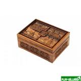 Набор покерный: 500 фишек, две колоды карт и кости в ларце из мореного дуба, интернет-магазин товаров для бильярда Play-billiard.ru