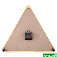 Weekend Часы настенные «Треугольник» (дуб) 40 см х 35 см, деревянные, интернет-магазин товаров для бильярда Play-billiard.ru. Фото 2