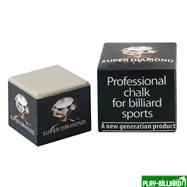 Weekend Мел  «Super Diamond Grey» (серый) черная коробка, интернет-магазин товаров для бильярда Play-billiard.ru. Фото 1