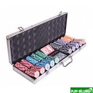 Набор для покера Premium Crown на 500 фишек, интернет-магазин товаров для бильярда Play-billiard.ru. Фото 1