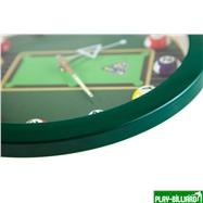 Weekend Часы настенные «12 шаров» D30 см (зеленые), пластик, интернет-магазин товаров для бильярда Play-billiard.ru. Фото 9