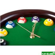 Weekend Часы настенные «12 шаров» D27 см (черные), деревянные, интернет-магазин товаров для бильярда Play-billiard.ru. Фото 3