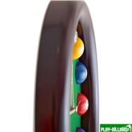Weekend Часы настенные «12 шаров» D27 см (черные), деревянные, интернет-магазин товаров для бильярда Play-billiard.ru. Фото 8