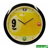 Weekend Часы настенные «Девятка» D29 см (черные), интернет-магазин товаров для бильярда Play-billiard.ru