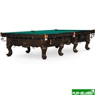 Бильярдный стол для русского бильярда «Gogard» 12 ф (черный орех), интернет-магазин товаров для бильярда Play-billiard.ru