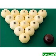 "Aramith Saluc Комплект шаров 68 мм ""Aramith Standard"", красный биток, интернет-магазин товаров для бильярда Play-billiard.ru. Фото 2"
