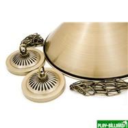 Weekend Лампа на три плафона «Elegance» (матово-бронзовая штанга, матово-бронзовый плафон D35см), интернет-магазин товаров для бильярда Play-billiard.ru. Фото 2