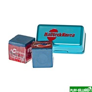 Ball Teck Мел «Ball teck PRO II» (2 шт, в бирюзовой металлической коробке) синий, интернет-магазин товаров для бильярда Play-billiard.ru. Фото 1