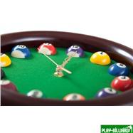 Weekend Часы настенные «12 шаров» D27 см (черные), деревянные, интернет-магазин товаров для бильярда Play-billiard.ru. Фото 4