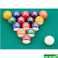 Weekend Комплект шаров 38 мм «Classic A-Quality» (пул), интернет-магазин товаров для бильярда Play-billiard.ru. Фото 2