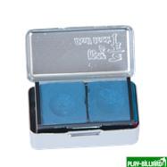 Ball Teck Мел «Ball teck PRO II» (2 шт, в серебристой металлической коробке) синий, интернет-магазин товаров для бильярда Play-billiard.ru. Фото 2