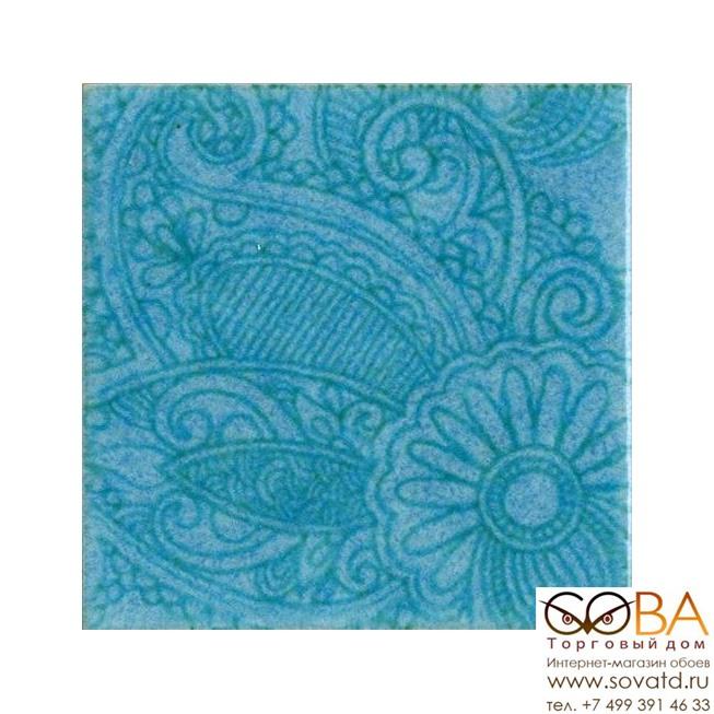 Декор AD/G91/1221T Тантра голубой  купить по лучшей цене в интернет магазине стильных обоев Сова ТД. Доставка по Москве, МО и всей России