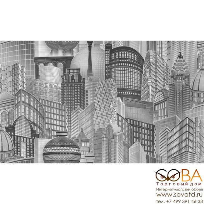 10368-05 Обои OVK Design New Look купить по лучшей цене в интернет магазине стильных обоев Сова ТД. Доставка по Москве, МО и всей России