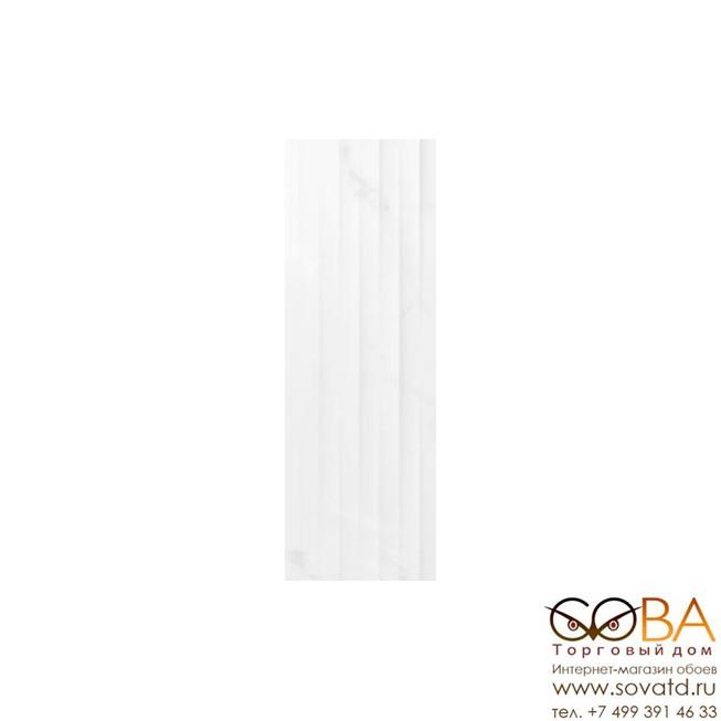 Плитка Meissen  Elegance рельеф полосы белый 25х75 купить по лучшей цене в интернет магазине стильных обоев Сова ТД. Доставка по Москве, МО и всей России