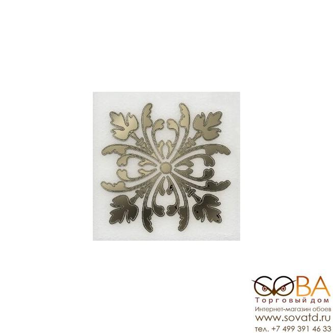 Декор Kerama Marazzi Вставка Клемансо белый 4,9х4,9 купить по лучшей цене в интернет магазине стильных обоев Сова ТД. Доставка по Москве, МО и всей России