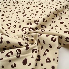 Фланель леопард на молочном (утепленная)