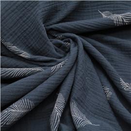 Муслин перья на серо-голубом