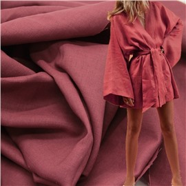 Конопляная ткань ягодного цвета #63