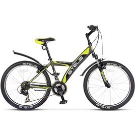 "Велосипед Stels Navigator 24"" 410 V V010 Серый/Салатовый/Черный, интернет-магазин Sportcoast.ru"