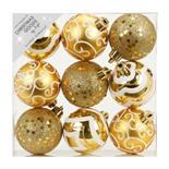 Набор ёлочных шаров INGE'S Christmas Decor 81074G001 d 6 см, золото (9 шт)