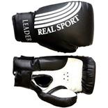 Перчатки боксерские Leader  4 унций, черный