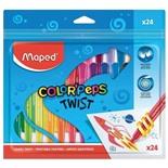 Восковые мелки Maped Color'peps Twist 24 цвета 860624