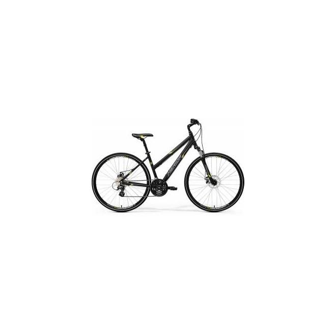 Велосипед Merida Crossway 15MD-LADY Matt Black/Yellow/Grey (2017), интернет-магазин Sportcoast.ru