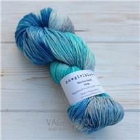 Пряжа Merino Sock multicolor цесарка/водоросли/серебряная лиса/изумруд, 320м/100г, Cowgirlblues