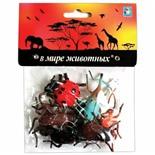 Набор фигурок 1TOY В мире животных Насекомые 8 шт Т10499