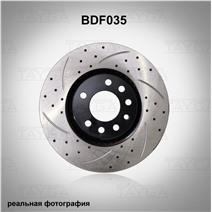 BDF035. Передняя ось. Перфорация + слоты