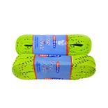 Шнурки для коньков с пропиткой W922, пара, 2,44 м, лайм