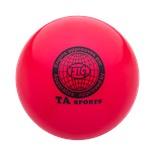 Мяч для художественной гимнастики RGB-101, 19 см, красный
