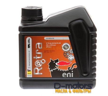 Трансмиссионное масло ENI Rotra HY 80W-90 (1л)