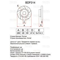 BDF014. Передняя ось. Перфорация + слоты