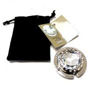 Держатель-крючок для сумок с зеркалом Mirror Миррор (серебристый), Любая женщина придет в восторг от такого подарка!