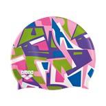Шапочка для плавания Print Jr Jumble/Pink, силикон, 94171 910