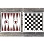 Доска картонная двухсторонняя: шахматы, шашки, нарды