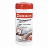Салфетки влажные для глубокой очистки Brauberg Scrab&Cleaning 40 шт в тубе 513285